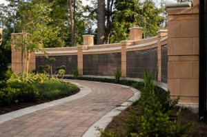 peaceful garden and columbarium niche