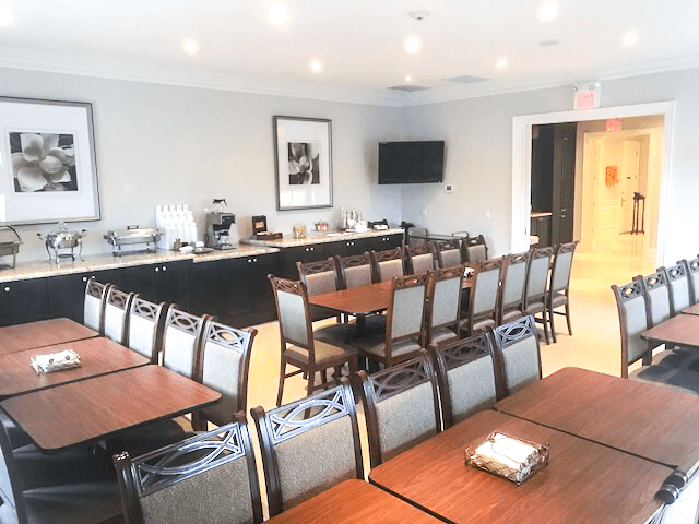 funeral home dining room