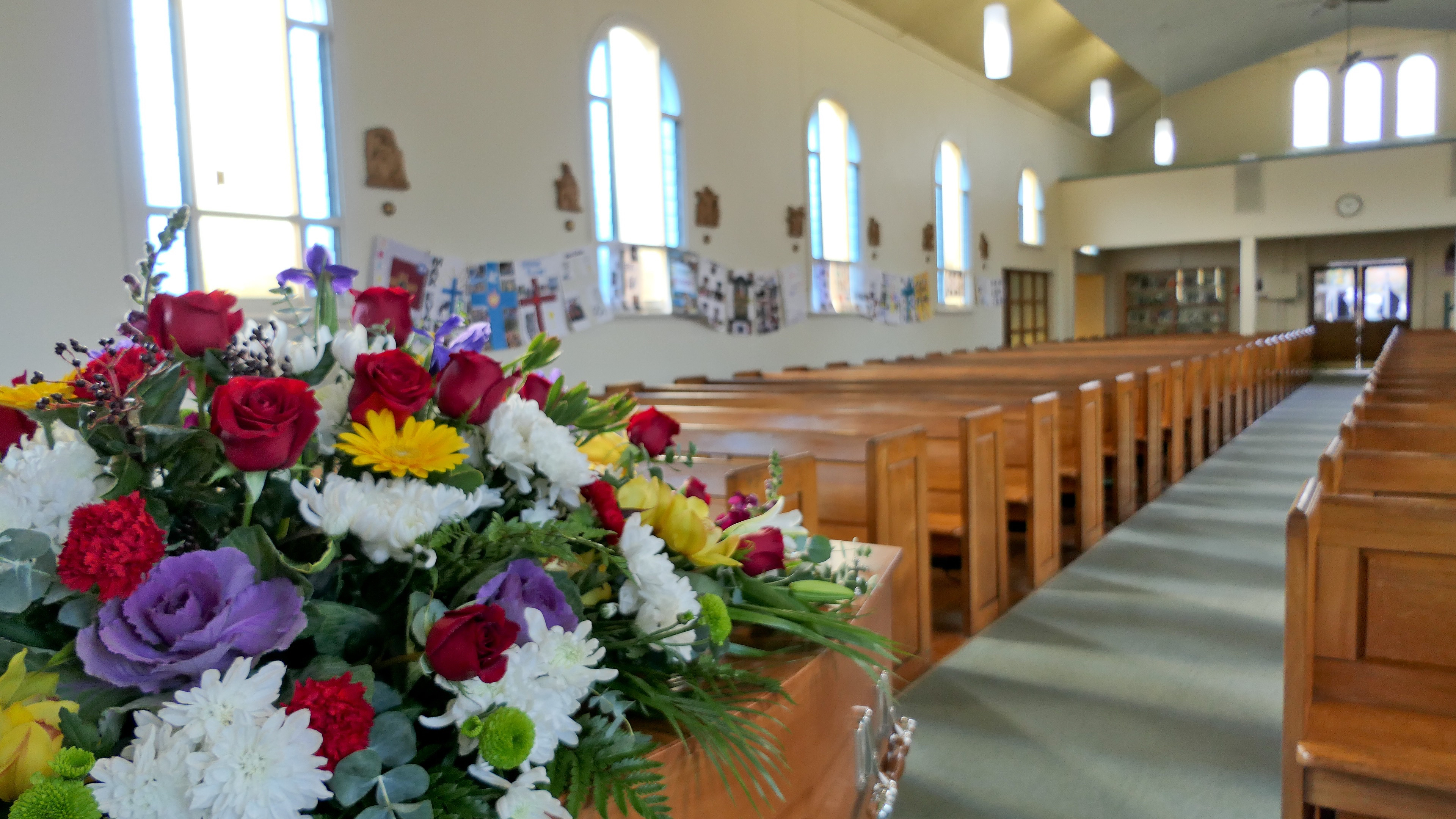 chapel in a funeral home