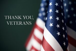 """american flag next to text """"thank you veterans"""""""